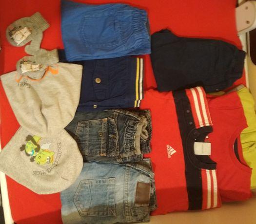 Paka, zestaw ubrań r.86 11 szt., Bluza, spodnie