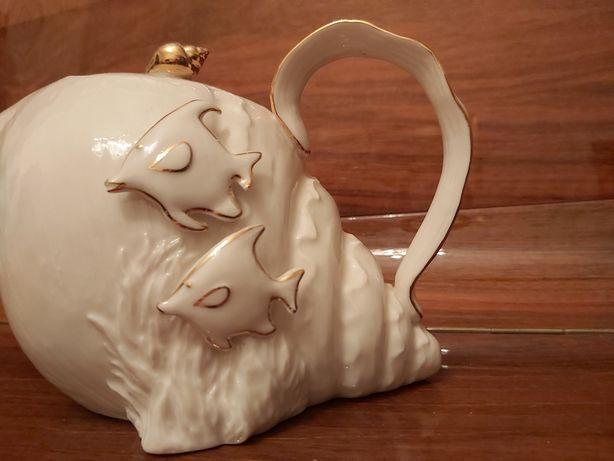 Заварник.Чайник.Фарфоровая статуэтка.Италия.Посуда