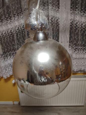 Lampa chrom wisząca lustro nowoczesna kula glamour salon kuchnia