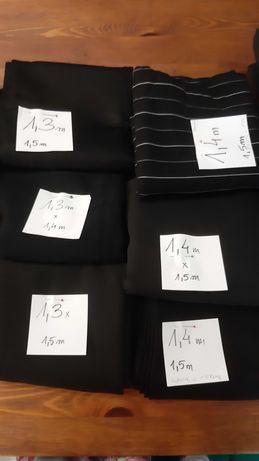 Mix materiałów, zestaw 13 kuponów (23m/10kg) czarny materiał, tkanina
