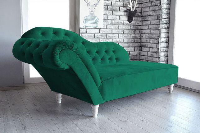 Sofa szezlong w butelkowej zieleni Różne kolory do wyboru
