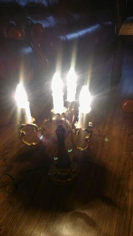 Lampa mosiężna na cztery żarówki