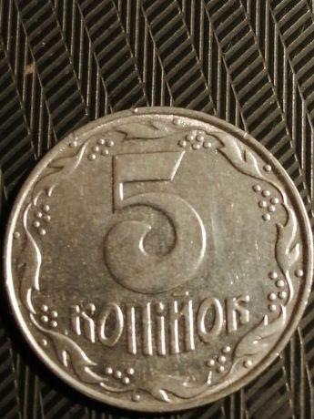 Продам монету 5 копеек 1992 года
