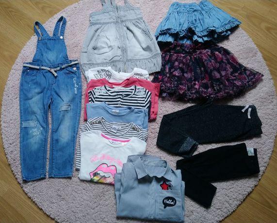 Zara 104 -110 paka zestaw ubrań h&m reserved