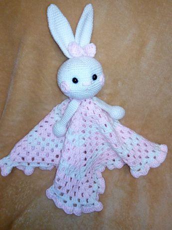 Комфортер іграшка игрушка младенца детские амигуруми дитячий зайчик