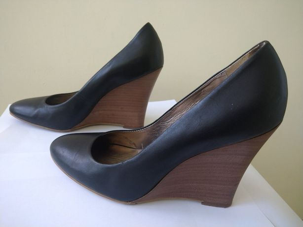 Туфли NINE WEST черные кожаные 37