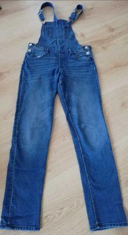 Spodnie jeansowe ogrodniczki H&M dla nastolatki rozm. 164