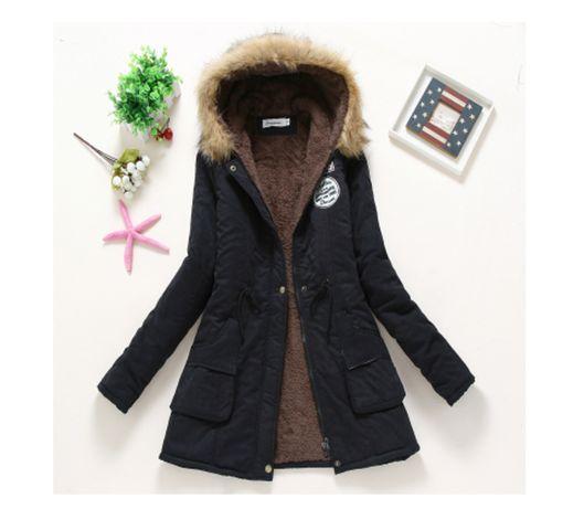 Damska kurtka zimowa czarna