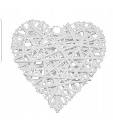 Dekoracyjne serce wiklinowe 20 cm
