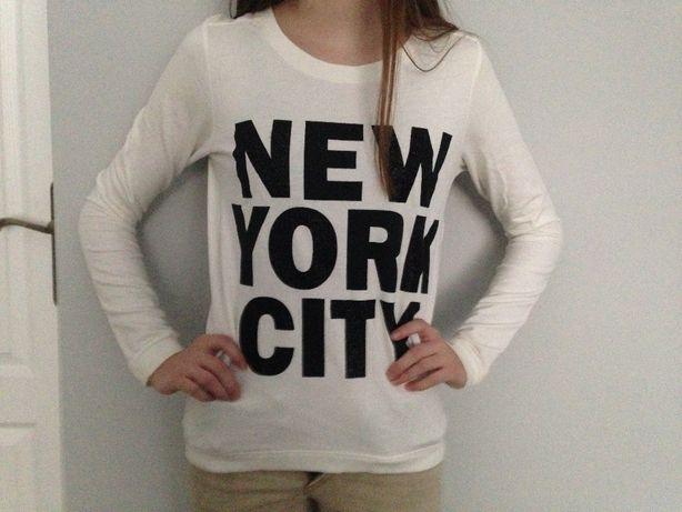 HM biala bluza bez kaptura New York NY 12 14 lat 158