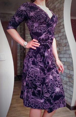 Платье на запах/платье-халат/платье в цветы/м-л