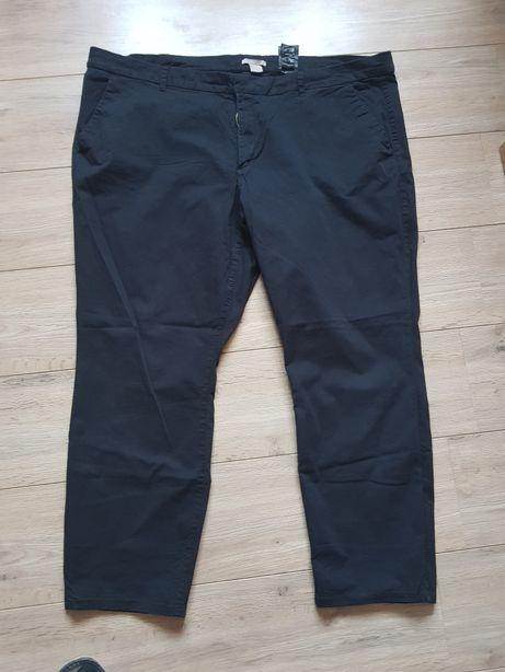 Eleganckie czarne spodnie H&M rozmiar 54