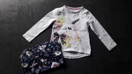 Bluzeczki r.3-4lata..F&F jednorożce..