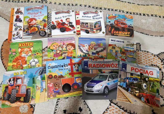 Zestaw paka mix książek dla dziecka 12szt + 4 GRATIS