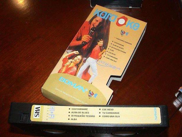 KARAOK - 16 canções - Marca: BOMAN - Preço total p/lote das 2 VHS