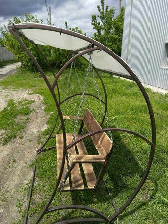 Качели металлические садовые ( для отдыха на свежем воздухе)