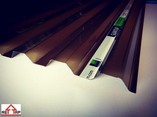 POLIWĘGLAN - Płyta trapezowa GRADOODPORNA 0,9 x 2,5- 0,8mm