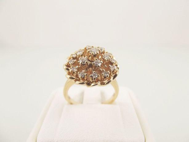 pierścionek złoto 585 brylanty 0,60 karata - 7,50 g