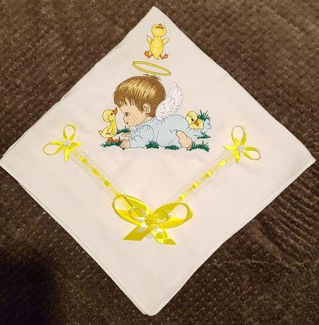 Fralda bordada para menino