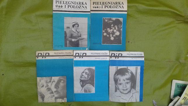 retro gazeta czasopismo PRL Pielęgniarka i Położna miesięcznik vintage