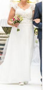 Sukienka ślubna ecrui rozmiar 46-48