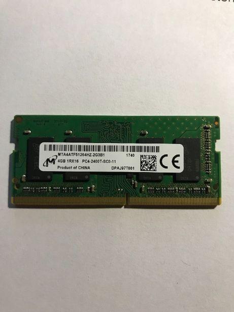 Оперативная память для ноутбука Micron SODIMM DDR4 4Gb 2400MHz 19200S