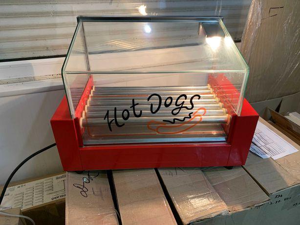 Роликовый гриль Inoxtech HDG 007G на 7 роликов со стеклом