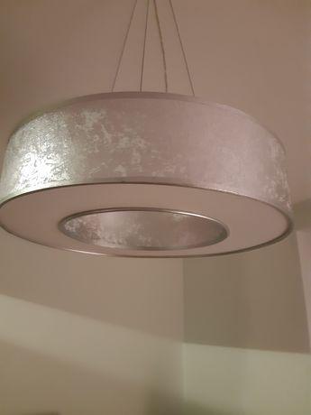 Lampa sufitowa srebrna