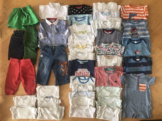 Body koszulki dresy spodnie śpiochy 68 zestaw paka ubrań