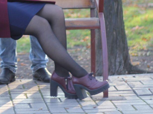 Туфли осень весна кожа