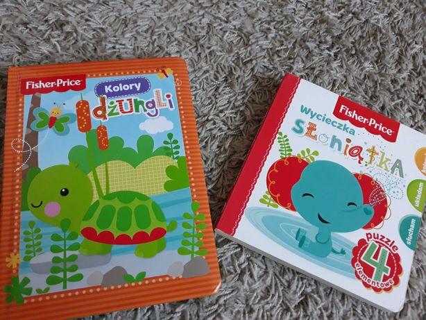 Fisher price książeczki Wycieczka słoniątka i Kolory dżungli
