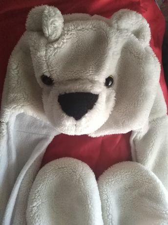 Шапка медведь белый