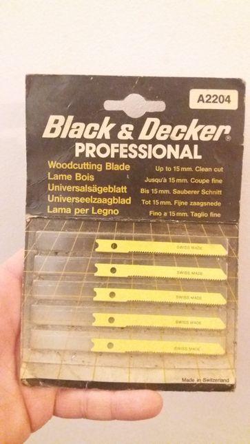 Brzeszczoty do wyrzynarki Black & Decker