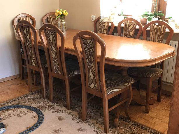 Stół jadalniany rozkładany dołączone krzesła