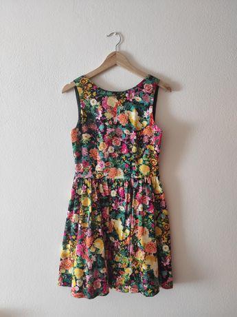 Vestido Florido da Zara, tamanho M