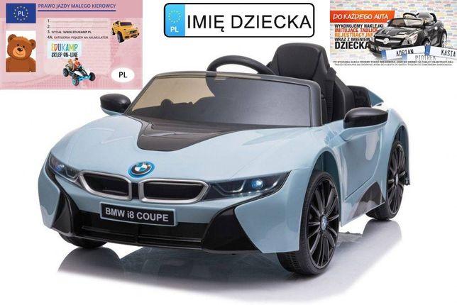 Pojazd na akumulator dla dzieci BMW I8 LIFT JE1001 Kraków wysyłka