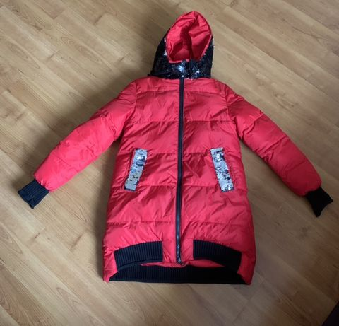 Пальто зимнее пуховик 160р.