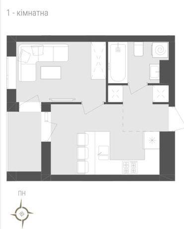 Продається однокімнатна квартира Авалон Зелена
