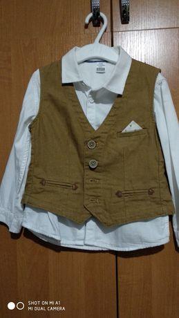 Святковий комплект: сорочка та жилет, 92-98