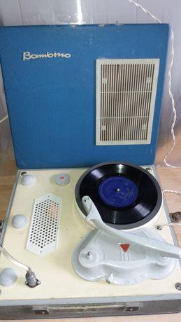 Bambino Gramofon PRL Vintage Sprawny