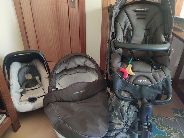 Carro de bebê+alcofa+ovo+capa para chuva oferta de mala bebê confort