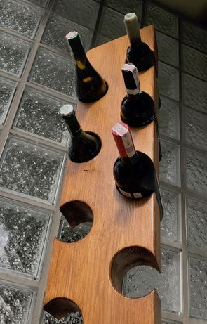 Regał stojaka na wino loft industrialny rustykalny naturalne drewno 5b