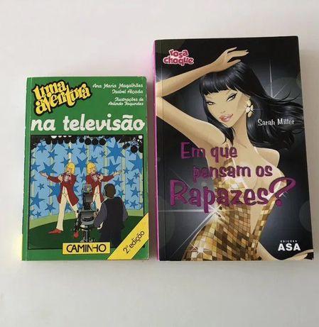 """Livros """"Em que pensam os Rapazes?"""" e """"Uma aventura na televisão"""""""