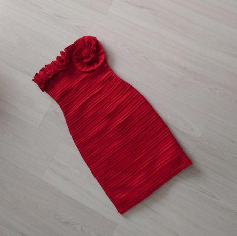 Czerwona sukienka pole&pole