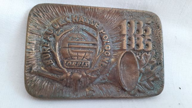 Plakieta Łowiectwo ORBIS Bureau De Chasse Pologne