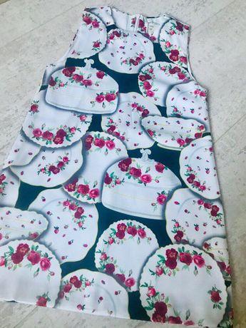 Стильный наряд на девочку 6-7лет-нарядное платье и веночек в розах