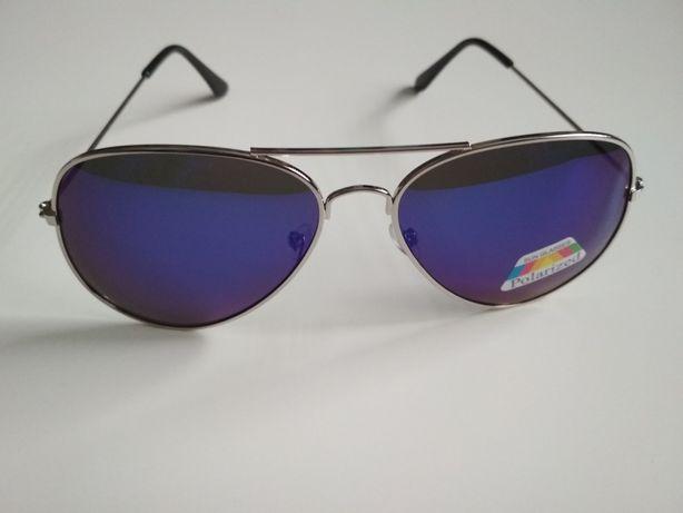 Okulary pilotki polaryzowane niebieskie