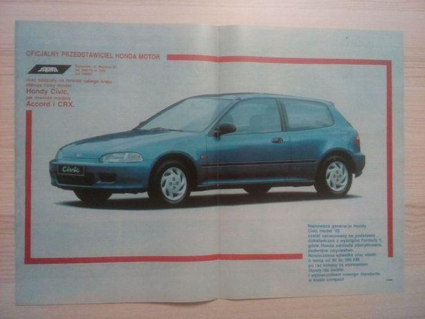 Plakat Poster Honda Civic 3D V gen 33,5cm x 47cm Cars JDM Reklama PL
