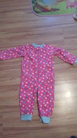 ciepłe pajacyki, piżamy do spania dla dziewczynki 86-92