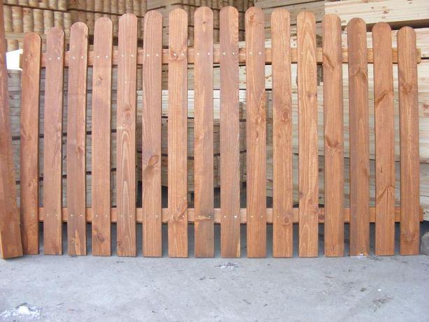 Sztachety drewniane sosnowe ogrodzenia drewniane TANIO